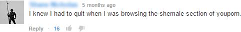 online porn user comment