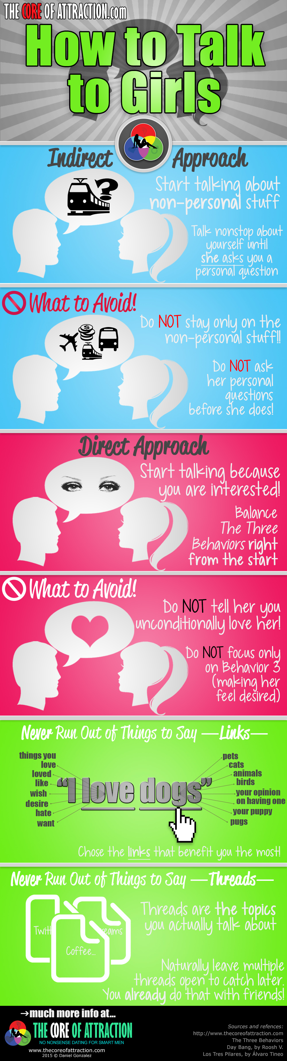 how to talk to girls infographic