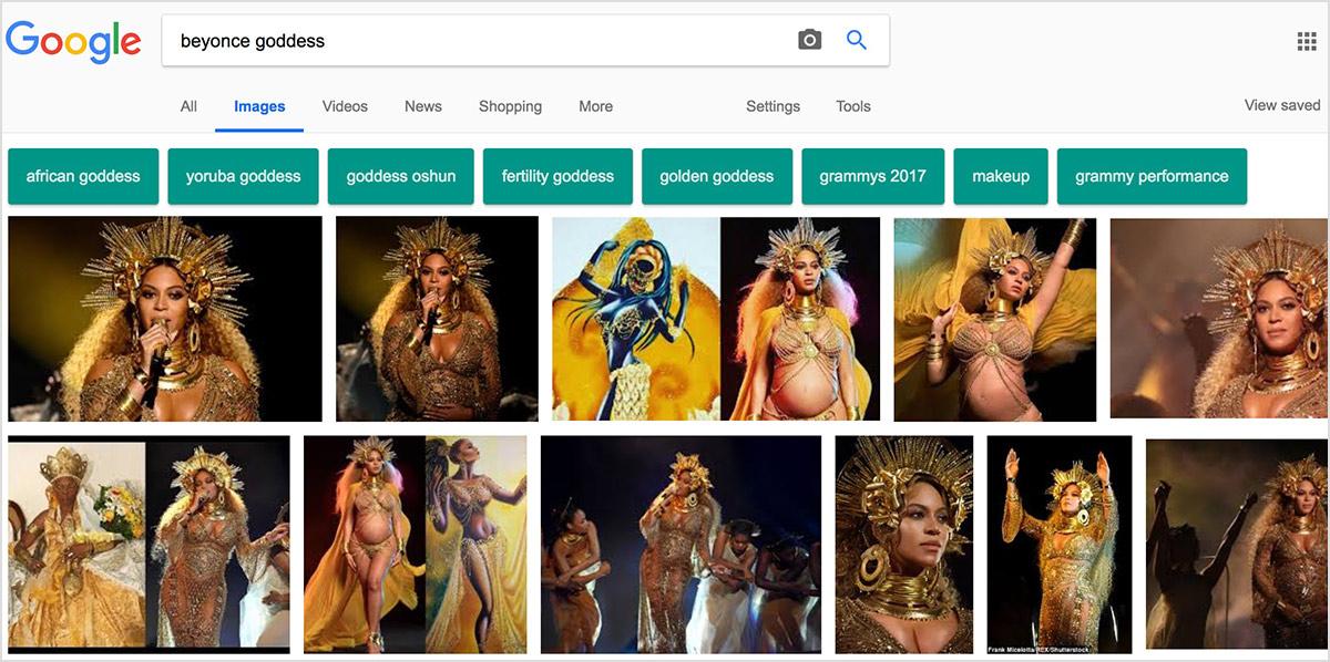 beyonce goddess google