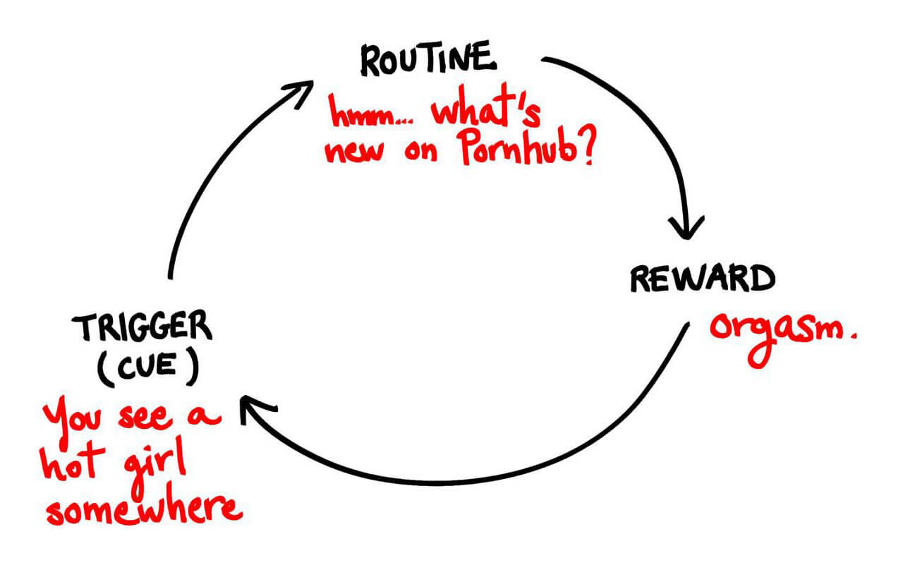 porn addiction habit cycle